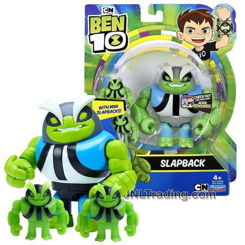 Year 2018 Cartoon Network Ben Tennyson 10 Series 4 Inch Tall Figure - SLAPBACK with 2 Mini Slapbacks