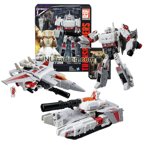 Hasbro Year 2016 Transformers Generations Titans Return Voyager Class 7 Inch Tall Figure - DOOMSHOT and MEGATRON with Cannon and Card (Alt Mode: Jet and Tank)