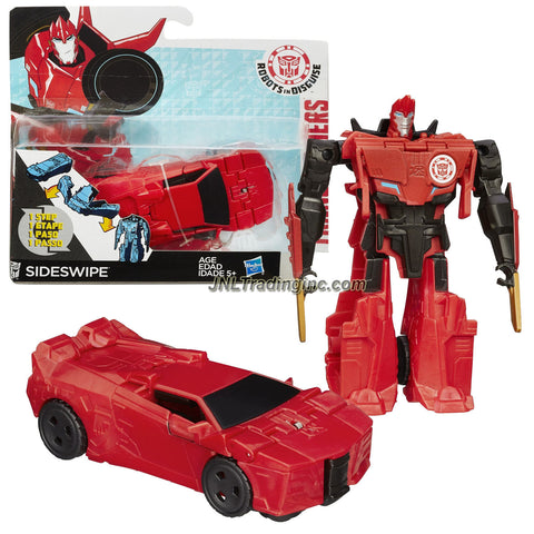 Hasbro Year 2014 Transformers Robots in Disguise Animation Series One Step Changer 5 Inch Tall Robot Action Figure - Autobot SIDESWIPE (Vehicle Mode: Sports Car)