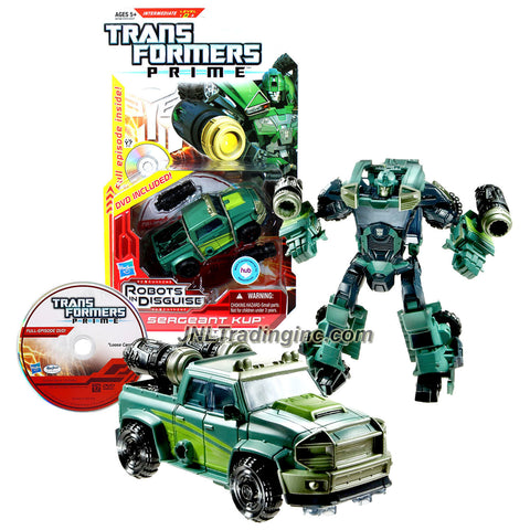 Hasbro Year 2012 Transformers RID Prime Series Deluxe Class 6 Inch Tall Robot Figure - Autobot SERGEANT KUP with Snap-On Cannons Plus Full Episode DVD Loose Cannon (Vehicle Mode: Pick-Up Truck)