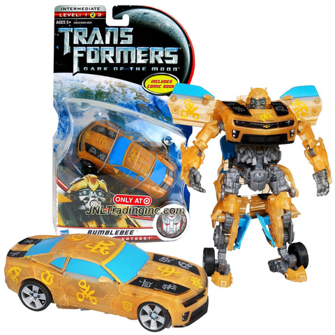 Hasbro Year 2010 Transformers Movie Dark of the Moon Series Deluxe Class Exclusive 6 Inch Tall Robot Figure - BUMBLEBEE with Glyphs Inscription (Vehicle Mode: Camaro Concept)