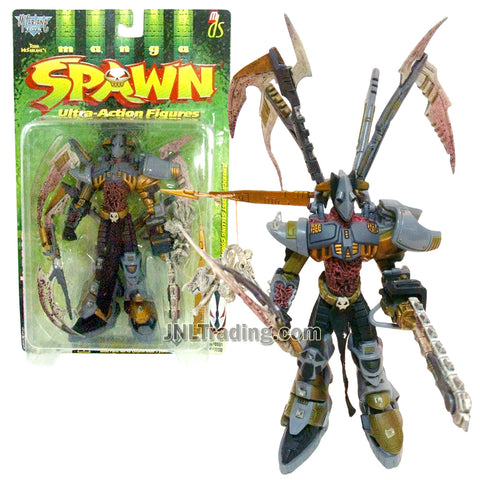 Year 1998 McFarlane's Toy Manga Spawn Series 7-1/2 Inch Tall Action Figure : DEAD SPAWN with Sword, 4 Blades and Stick with Bones and Skulls