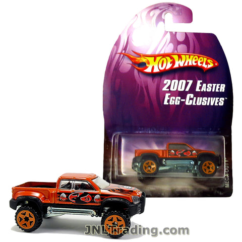 Hot Wheels Year 2007 Easter Egg-Clusives Series 1:64 Scale Die Cast Car Set - Copper Color Pick-Up Truck Bunny 9 MEGA-DUTY L4710
