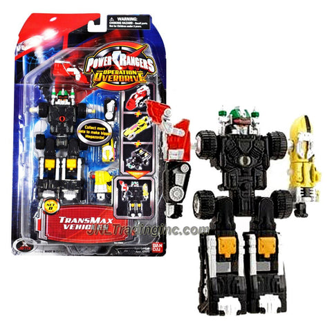 Bandai Year 2006 Power Rangers Operation Overdrive Series 6 Inch Tall Action Figure Robot Set - Transmax Vehicles Set D with 3 Vehicles that Combine into Zord Figure