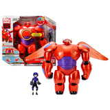 "Bandai Year 2014 Disney ""Big Hero 6"" Movie Series 12 Inch Tall Electronic Action Figure - BAYMAX with Lights Up Face, Firing Fist, Sound F/X and 18"" Wingspan Plus Hiro Figure"