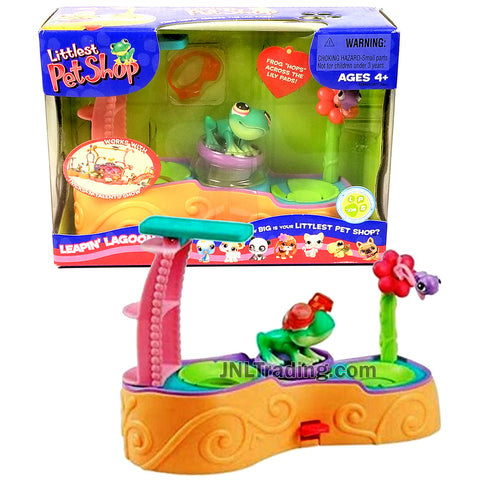 Year 2006 Littlest Pet Shop LPS Series Bobble Head Figure Set - LEAPIN' LAGOON with Frog #236 and Goggles