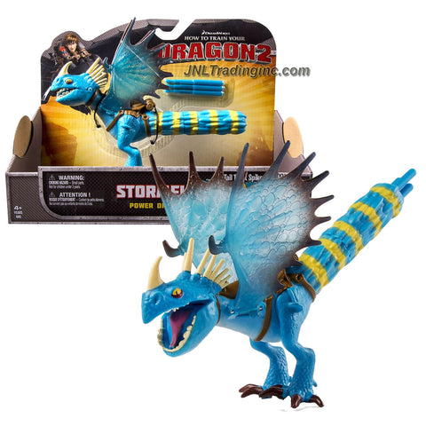 "Spin Master Year 2014 Dreamworks ""How to Train Your Dragon 2"" Series 8 Inch Long Figure - Power Dragon STORMFLY with Tail Twist Spike Attack and 3 Spike Missiles"