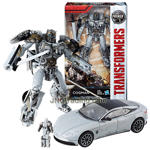 Year 2016 Transformers The Last Knight Movie Premier Edition Series Deluxe Class 5-1/2 Inch Tall Figure - Intrepid Protector COGMAN with Sword and Titan Master (Vehicle Mode: Aston Martin DB11)