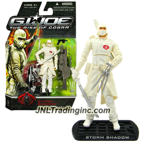 "Hasbro Year 2008 G.I. JOE Movie ""The Rise of Cobra"" Series 4 Inch Tall Action Figure - Ninja Mercenary STORM SHADOW with Rifle, Gun, Nanomites, 2 Swords, Disc Launcher with 1 Disc, Claw and Display Base"