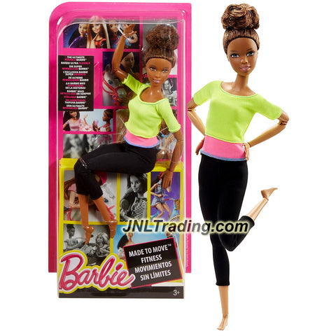 Mattel Year 2015 Barbie Made to Move Series 12 Inch Doll - NIKKI (DHL83) in Green Pink Tops and Black Pants with Ultimate Posing Feature