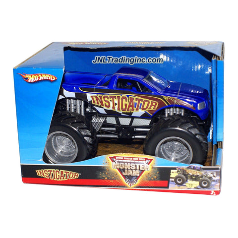 "Hot Wheels Year 2008 Monster Jam 1:24 Scale Die Cast Metal Body Official Monster Truck Series #P2302 - INSTIGATOR with Monster Tires, Working Suspension and 4 Wheel Steering (Dimension : 7"" L x 5-1/2"" W x 4-1/2"" H)"