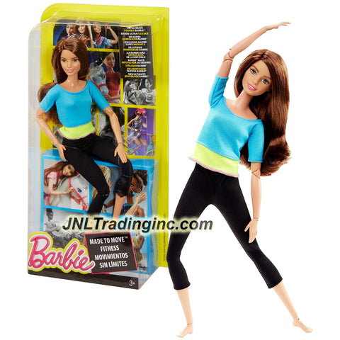 Mattel Year 2015 Barbie Made to Move Series 12 Inch Doll - TERESA (DJY08) in Blue Yellow Tops and Black Pants with Ultimate Posing Feature