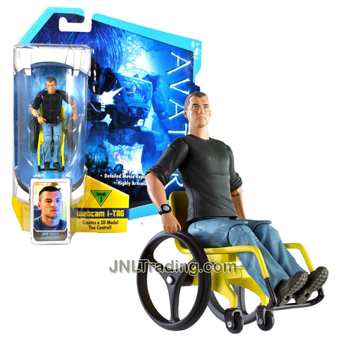 Year 2009 James Cameron's AVATAR Highly Articulated Detailed Movie Replica 4 Inch Tall Figure - Former Marine JAKE SULLY in Wheel Chair with Level 1 Webcam i-Tag