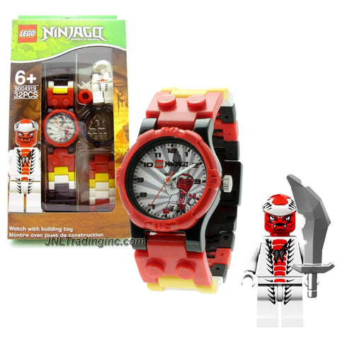 Lego Year 2012 Ninjago Series Watch with Minifigure Set #9004926 - SNAPPA Watch Plus Snappa Minifigure with Sword (Water Resistant: 50m/165ft)