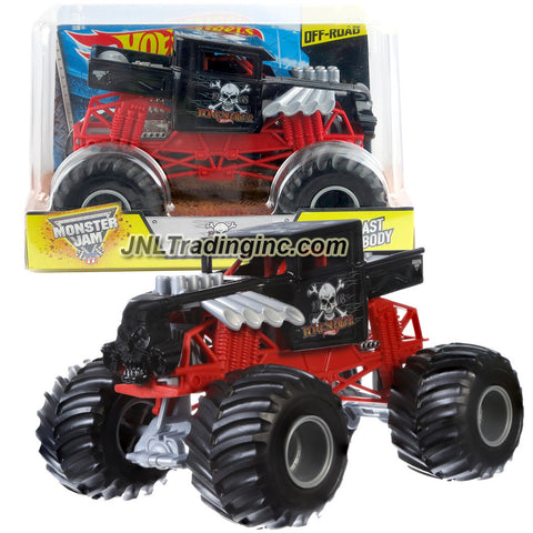 Hot Wheels Year 2015 Monster Jam 1:24 Scale Die Cast Metal Body Official Monster Truck Series #CJD21 - 1968 BONESHAKER w/ Monster Tires, Working Suspension and 4 Wheel Steering