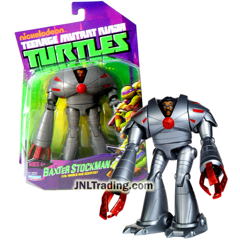 Year 2013 Teenage Mutant Ninja Turtles TMNT 5 Inch Figure : Evil-Minded Mad Scientist BAXTER STOCKMAN in High-Tech Battlesuit