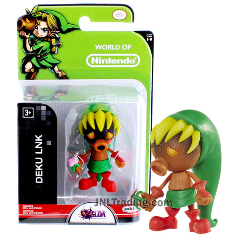 Year 2015 World of Nintendo The Legends of Zelda - Majora's Mask Series 2-1/2 Inch Tall Figure - DEKU LNK with Flower