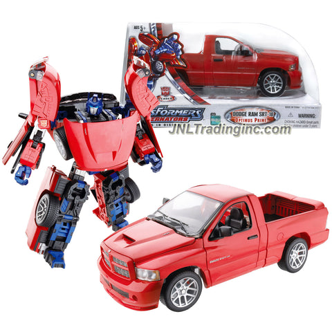 Hasbro Year 2005 Transformers Alternators Series 7 Inch Tall Robot Figure - Autobot Leader OPTIMUS PRIME with Blaster and Flip Down Tailgate (Vehicle Mode:1:24 Scale Dodge Ram SRT-10)