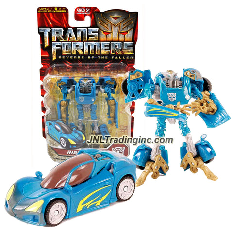 Transformer Year 2009 Revenge of the Fallen Movie Series  Scout Class 4-1/2 Inch Tall Figure - Autobot NIGHTBEAT (Vehicle Mode: Sport Car)