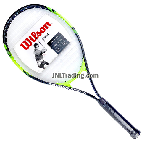 "Wilson Advantage XL Adult Starter Player Tennis Racket with 112"" Oversized Head, Stop Shock Pads, Bumper Guard and Power Strings (Grip: 4-3/8"")"