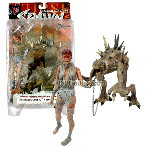 Year 1998 McFarlane's Toy Curse of the Spawn Series 6 Inch Tall Figure : JESSICA PRIEST & MR. OBERSMITH with Blaster and Chain Lease