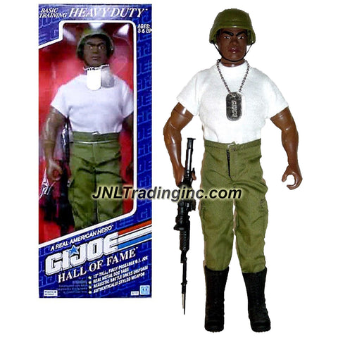 "Hasbro Year 1992 G.I. JOE ""A Real American Hero"" Hall of Fame Basic Training Series 12 Inch Tall Action Figure - Heavy Ordnance Specialist HEAVY DUTY with Metal Dog Tags, Helmet and Rifle with Bayonet"