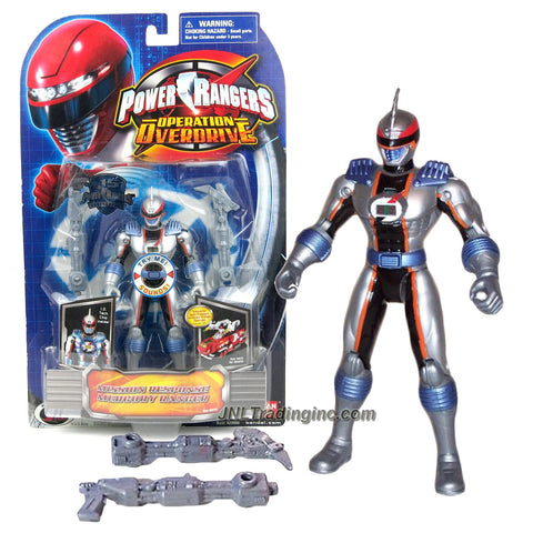 Bandai Year 2007 Power Rangers Operation Overdrive Series 6 Inch Tall Action Figure - Mission Response MERCURY RANGER with I.D. Tech Chip Inside and 2 Blaster Rifles