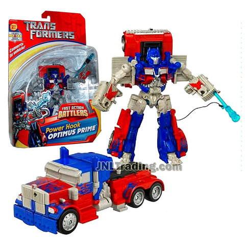 Transformer Year 2006 Fast Action Battlers Series 6 Inch Tall Figure - Power Hook OPTIMUS PRIME with Power Hook Launcher (Vehicle Mode: Rig Truck)