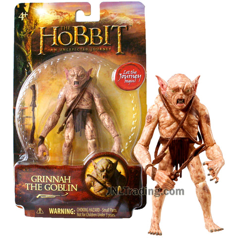 Year 2012 The Hobbit Movie An Unexpected Journey Series 4 Inch Tall Figure - GRINNAH THE GOBLIN with Spiked Whip