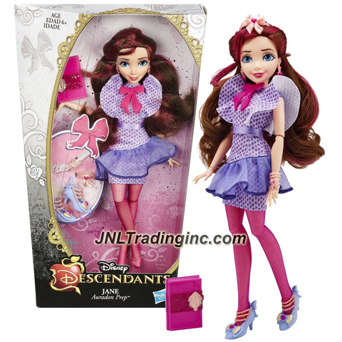 Hasbro Year 2014 Disney Descendants Series 12 Inch Doll - Auradon Prep Daughter of Fairy Godmother JANE with Earrings, Bracelet, Hairband and Locket