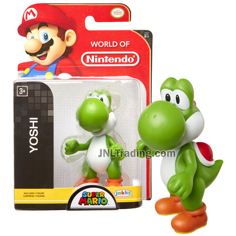 "Year 2015 World of Nintendo ""Super Mario"" Series 3 Inch Tall Mini Figure - Green YOSHI"