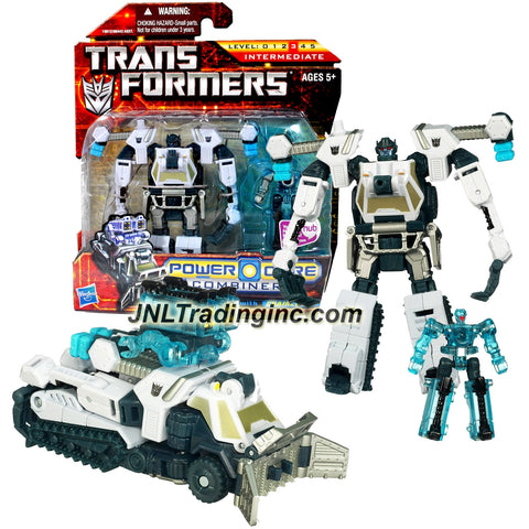 Transformer Year 2010 Power Core Combiners Series 4-1/2 Inch Tall Figure Set - Commander Class Decepticon ICEPICK (Vehicle Mode: Half-Track) with Mini-Con CHAINCLAW (Alt. Mode: Missile Turret)