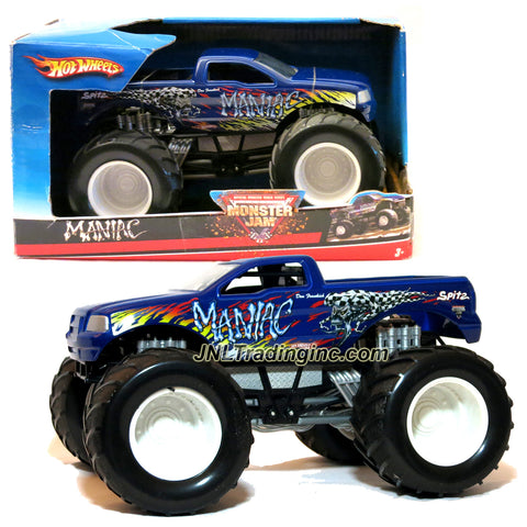 "Hot Wheels Year 2007 Monster Jam 1:24 Scale Die Cast Official Monster Truck Series - Don Frankish MANIAC (M4003) with Monster Tires, Working Suspension and 4 Wheel Steering (Dimension - 7"" L x 5-1/2"" W x 4-1/2"" H)"