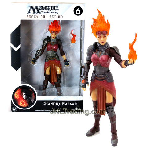 Funko Year 2014 Magic The Gathering Legacy Collection Series 7-1/2 Inch Tall Action Figure - CHANDRA NALAAR with Ball of Flame