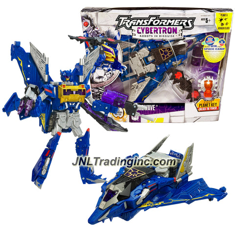 Hasbro Year 2005 Transformers Cybertron Series Voyager Class 8 Inch Tall Robot Action Figure - Decepticon SOUNDWAVE with Bomb that Converts to LASERBEAK Mini-Con, Harmonic Wave Cannon, Subsonic Shocker and Planet X Cyber Key (Vehicle Mode: Bomber Jet)