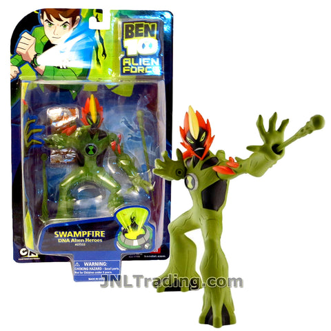 Cartoon Network Year 2008 Ben 10 Alien Force DNA Alien Heroes Collection Series 6 Inch Tall Figure - SWAMPFIRE with Swamp Slime Shooter and Missile Launcher