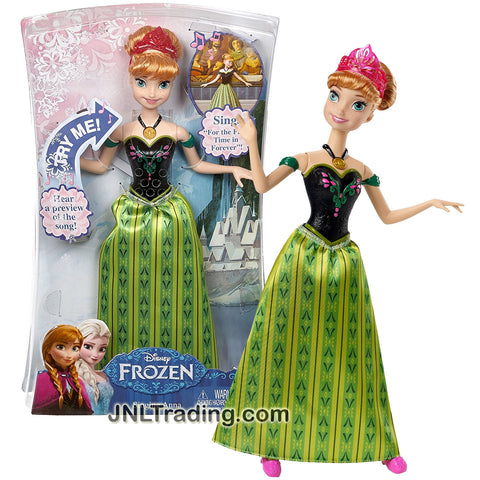 "Mattel Year 2014 Disney Frozen Series 12 Inch Tall  Electronic Singing Doll - ANNA with ""For The First Time In Forever"" Song and Tiara"