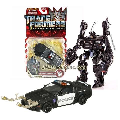"Hasbro Year 2009 Transformers Movies Series 2 ""Revenge of the Fallen"" Deluxe Class 6 Inch Tall Robot Action Figure - INTERROGATOR BARRICADE with Snap-On Probe Arms and Spring Loaded Punch Attack (Vehicle Mode: Saleen S281 Mustang Police Car)"