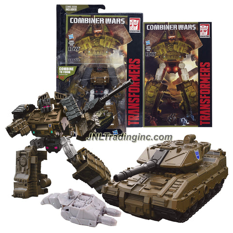 "Hasbro Year 2015 Transformers Generations Combiner Wars Series 5-1/2"" Tall Robot Figure - Decepticon BRAWL with Blaster, Bruticus' Left Leg and Comic Book (Vehicle Mode: Tank)"