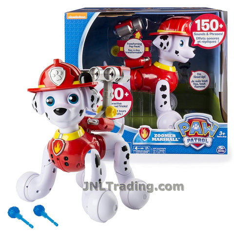 Year 2015 Paw Patrol Series 11 Inch Tall Electronic Puppy Dog Figure - Full of Life Dalmatian ZOOMER MARSHALL with Interactive Missions and Tricks Plus Sounds and Phrases