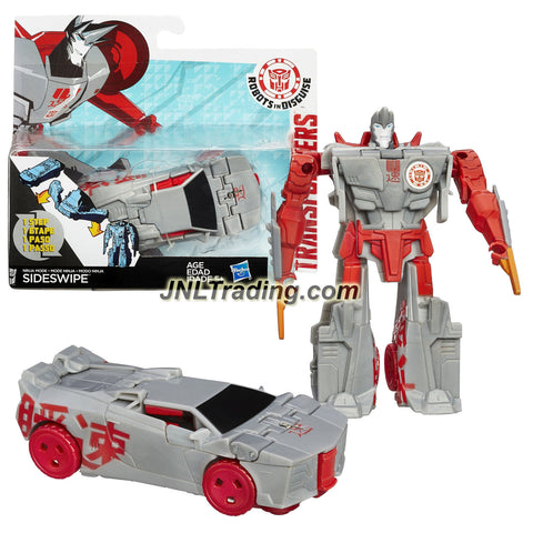 Hasbro Year 2014 Transformers Robots in Disguise Animation Series One Step Changer 5 Inch Tall Figure - Ninja Mode SIDESWIPE (Vehicle: Sports Car)