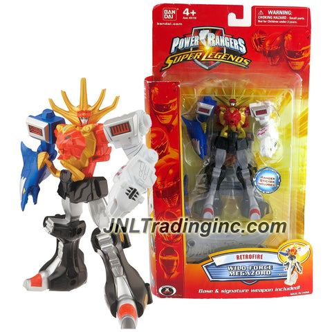 Bandai Year 2009 Power Rangers Super Legends Series 5-1/2 Inch Tall Zord Figure - Retrofire WILD FORCE MEGAZORD with Sword and Display Stand