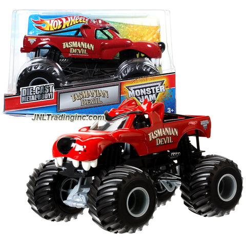 "Hot Wheels Year 2012 Monster Jam 1:24 Scale Die Cast Metal Body Official Monster Truck Series #W3369 - TASMANIAN DEVIL with Monster Tires, Working Suspension and 4 Wheel Steering (Dimension : 7"" L x 5-1/2"" W x 4-1/2"" H)"