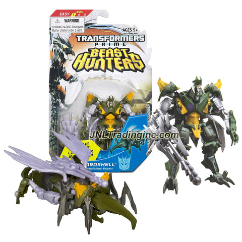 Hasbro Year 2012 Transformers Prime Beast Hunter Series Commander Class 4 Inch Tall Robot Action Figure #004 - Decepticon Demolitions Expert HARDSHELL with Plague Missile Launcher and 1 Missile (Beast Mode: Giant Beetle)
