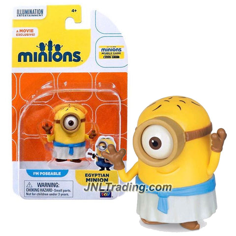 Thinkway Toys Illumination Entertainment Movie Minions 2 Inch Tall Figure - Stuart as EGYPTIAN MINION