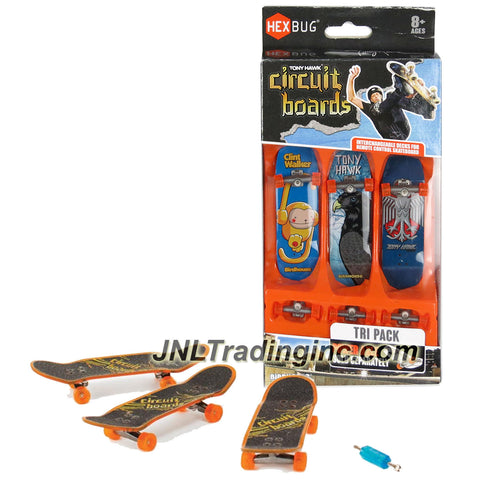Hexbug Year 2014 Tony Hawk Circuit Boards 3 Pack Set - Clint Walker Monkey (005-BH), Forest Hawk (013-BH) and 2 Headed Hawk (019-BH)