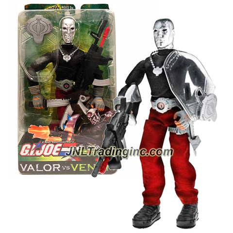 Hasbro Year 2003 GI JOE A Real American Hero Valor vs. Venom Series 12 Inch Tall Action Figure - DESTRO with Missile Firing Machine Gun, Boots, Belt, Cobra Medallion, Shield, Shield Clip and Knife
