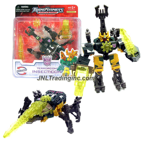 Hasbro Year 2005 Transformers UNIVERSE Series Scout Class 5 Inch Tall Robot Action Figure - Terrorcon INSECTICON with Energon Chain Gun, Star and Sword (Beast Mode: Beetle)