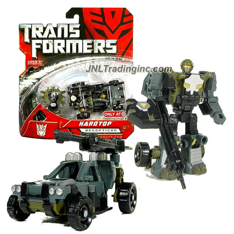 Hasbro Year 2007 Transformers Exclusive Movie Series Scout Class 4 Inch Tall Robot Action Figure - Decepticon HARDTOP with Sniper Rifle and Cyber Key (Vehicle Mode: Dune Buggy)