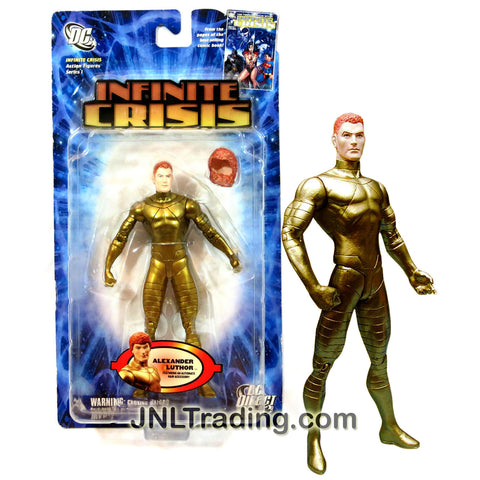DC Direct Year 2006 DC Comics Infinite Crisis Series 6-1/2 Inch Tall Action Figure - ALEXANDER LEX LUTHOR with Alternate Hair Accessory and Display Base